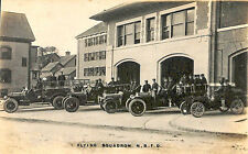 New Bedford MA Fire Engines Flying Squadron Trucks RPPC Postcard