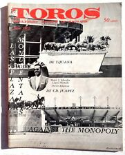Vintage June 1963 Toros (Matador) Bullfighting Review In English Magazine