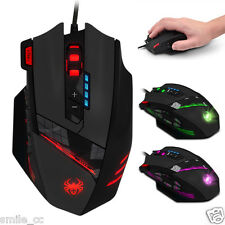 Zelotes C-12 4000 DPI Programmable Buttons LED Optical USB Gaming Mouse Mice NEW