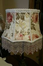 "Victorian French  Large Floor Table Lamp Shade ""Heiress""  Rose Bead Fringe"