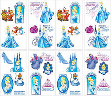 32ct Princess CINDERELLA Temporary Tattoos Girls Birthday Party Favors 2 Sheets