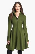 NEW NWT ANTHROPOLOGIE NANETTE LEPORE GREEN WOOL FIT & FLARE COAT JACKET 4 S $578