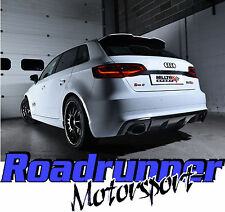 "Milltek SSXAU591 Audi RS3 8v Exhaust System 3"" Cat Back Non Res Black Oval Trims"
