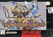 ***WEAPONLORD SNES SUPER NINTENDO GAME COSMETIC WEAR~~~