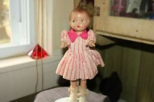 Composition Patsy -Patsy type Doll Molded Hair Painted Eyes Jointed 1930's  9""