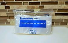 "100 3""x4"" ZIP LOCK Bags Clear 2MIL Poly BAG RECLOSABLE 100 Plastic Small Baggies"