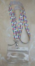 Adventure Time Lanyard / Neck Strap for Pin Trading inc. Waterproof Holder