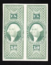 US R95TC4a $10 Mortgage Revenue Trial Color Proof Pair on Card