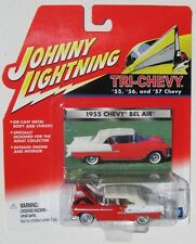 JOHNNY LIGHTNING R2 TRI-CHEVY 1955 CHEVY BEL AIR CONVERTIBLE White wall tires