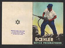 """PARIS (X°) CATALOGUE / USINE d'OUTILS PNEUMATIQUES Manuels """"BOEHLER"""" en 1949"""