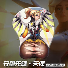 Anime Mice Pad Game Overwatch OW Mercy 3D Soft Hip Silicone Mousepad Play Mat