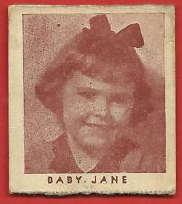 BABY  JANE (WHAT HAPPENED TO)  RARE 1930's  R133  STRIPCARD # 103 SERIES  OF  96
