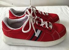 TOMMY HILFIGER Red Sneakers Tennis Platform Shoes, Vintage Womens 81/2M W80978