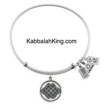 Wind & Fire Endless Knot Charm Silver Expandable Bangle Bracelet Made In USA