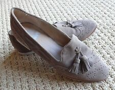 DV BY DOLCE VITA WOMENS Marcela Tassel Loafers Spring Suede Shoes 8.5 $66 Taupe