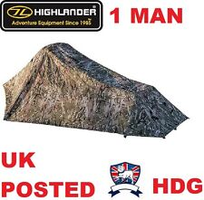 HIGHLANDER BLACKTHORN TREKKING TENT 1 MAN BIVI SHELTER MULTICAMO MILITARY ARMY