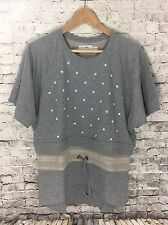 NWOT Adidas Stella McCartney Shirt, Gray With Cream Colored Mesh, Size 44 / L