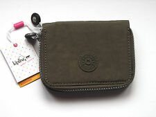 KIPLING Wallet Clutch Zip-Around Twin Compartment Olive PU Material