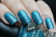 NEW! Deborah Lippmann JUST DANCE Polish Lacquer - full size bright aqua glitter