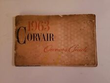 Vintage 1963 Chevrolet Corvair Owners Guide General Motors First Edition