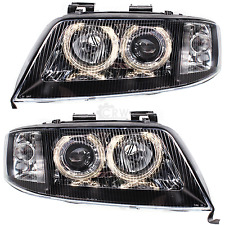 Set Xenon Headlight Audi A6 C5 4B 97-04.01 clear/black Angel Eyes 1072806