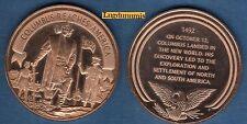 Médaille Histoire des USA - COLUMBUS REACHES AMERICA 12 October 1792 12/10/1792