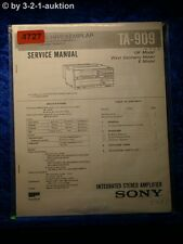 Sony Service Manual TA 909 Amplifier  (#4727)