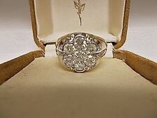 14KT Gold 2.00ct Diamond Men's Cluster Ring 7 Stone Vintage size 9