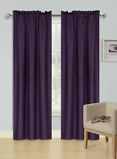 2 PANELS ROD POCKET FOAM LINED THERMAL BLACKOUT WINDOW DRESSING CURTAIN R64