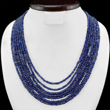 ABSOLUTELY TOP SELLING 423.50 CTS NATURAL 7 LINE BLUE TANZANITE BEADS NECKLACE