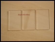 ACRYLICRAFT STAMP BLOCKS VALUE PACK OF 3 CLEAR ACRYLIC SLIMLINE STAMPING BLOCKS