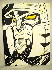 Canvas Painting Transformers Cybertron Megatron Sneer Art 16x12 inch Acrylic