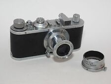 Leica Standard 35mm film viewfinder camera and lens. Uses Leica M39 Screw Mount
