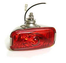 CLASSIC CAR RETRO REAR STAINLESS RED FOG LAMP LIGHT 12v FORD MINI GLASS Y3278