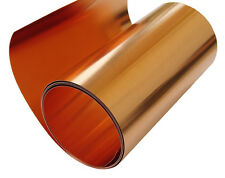 "Copper Sheet 5 mil/ 36 gauge metal foil roll tooling  6"" X 4' CU110 ASTM B-152"