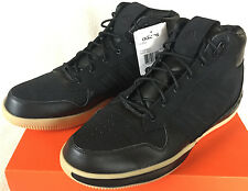 Adidas Lux Mid 677620 Luxury Gum Black Leather Basketball Shoes Men's 11 NBA new