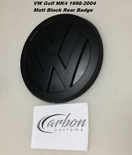 VW Golf MK4 Matt Black Rear Badge Emblem High Quality UK Seller