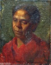 O/C PAINTING OF BLACK WOMAN BY HENRY OSSAWA TANNER 1859-1937 SIMILAR SOLD4 57k