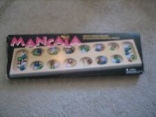 Mancala Deluxe Solid Wood Board Game with Gleaming playing pieces 1995 Cardinal