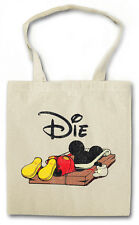 MOUSE TRAP TASCHE STOFFTASCHE Mausefalle Maus Comic Mickey Fun Die Dead