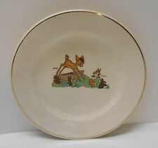 Bambi and Thumper Small Porcelain Plate Walt Disney Ltd Beswick England Vintage