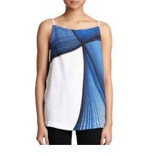 NWT Clover Canyon Indigo Dream white blue blouse spaghetti straps Top size S