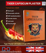 TIGER PAIN RELIEF HERBAL CAPSICUM PLASTER MUSCLE NECK ARTHRITIS REMEDY PATCH -UK