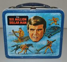 Vintage 1974 The Six Million Dollar Man TV Show Metal Lunchbox C7.5+