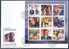 SOLOMON ISLANDS DUKE & DUCHESE OF CAMBRIDGE KATE & PRINCE WILLIAM SHEET II  FDC