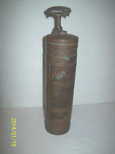 Empty Vintage American LaFrance Copper Brass Alert Fire Extinguisher Fire Gun