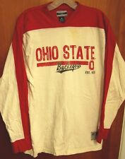 OHIO STATE med T shirt OSU longsleeves distressed logo beat-up V-neck Buckeyes