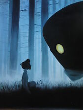 IRON GIANT 30x20in painting.not a stampa. telaio disponibili