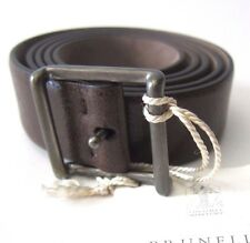 J-370889 New Brunello Cucinelli Brown Leather Buckle Belt Size-42/105