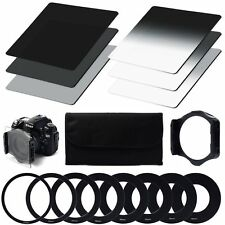 Neutral Density ND Filter Set ND2 ND4 ND8 Gradual Holder 9pc Adapter for Cokin P
